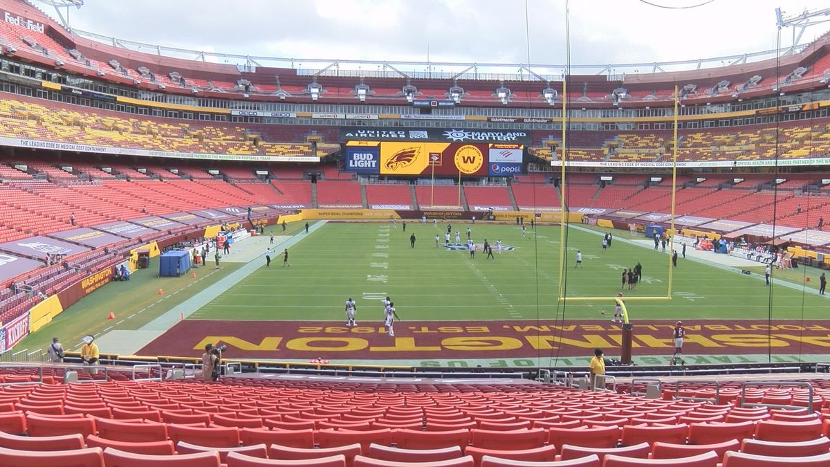 FedEx Field in Landover, Maryland, prior to Washington's kickoff against the Eagles on...