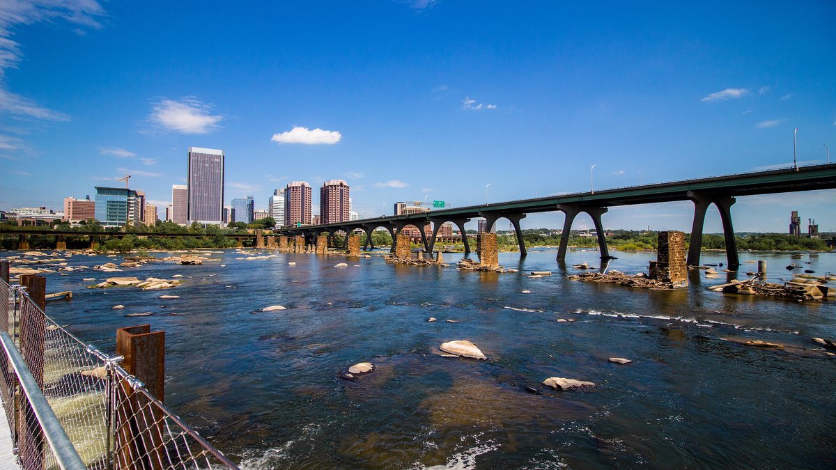 The James River and downtown Richmond.