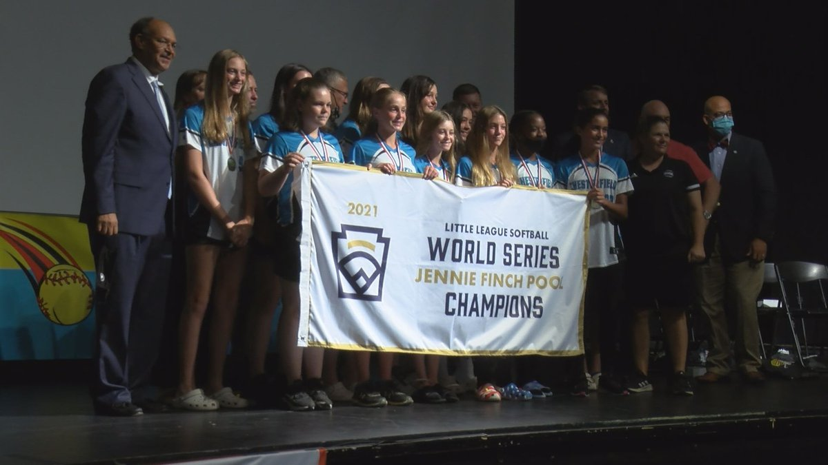 The Chesterfield Little League softball team was honored during a community celebration on...
