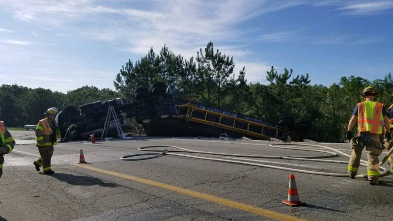 The ramp from I-295 south to I-64 east is closed in eastern Henrico due to an overturned...