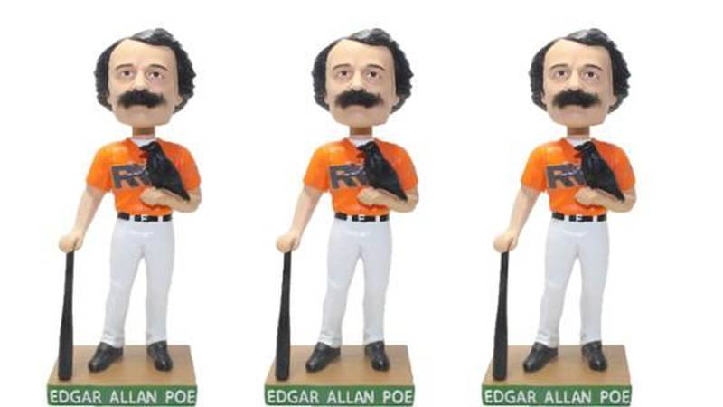 Edgar Allan Poe will be honored with his own Bobblestache doll at The Diamond. (Source: Flying...