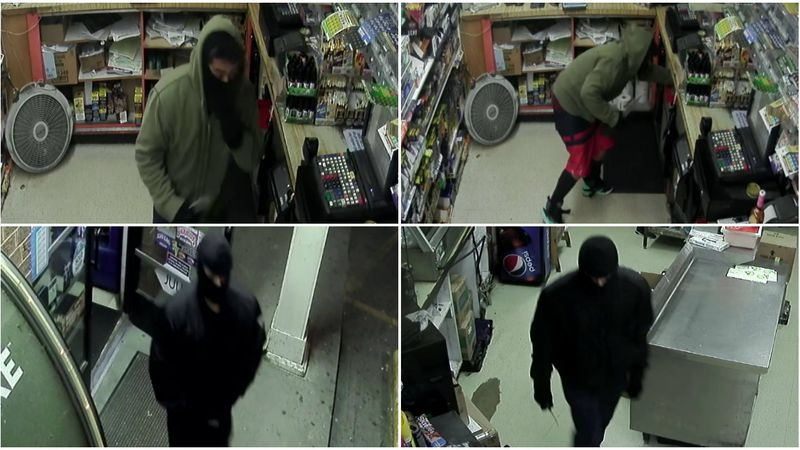 Two men carrying knives robbed a food mart in Chesterfield in the early morning hours of March...