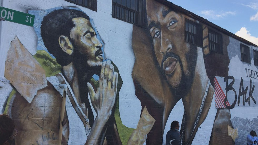 Recording artist and Petersburg Native held the block party for the mural unveiling in...
