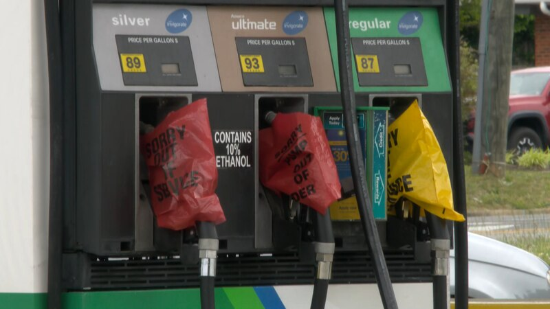 While gas stations in the area may be out of fuel, officials say there's still enough supply to...