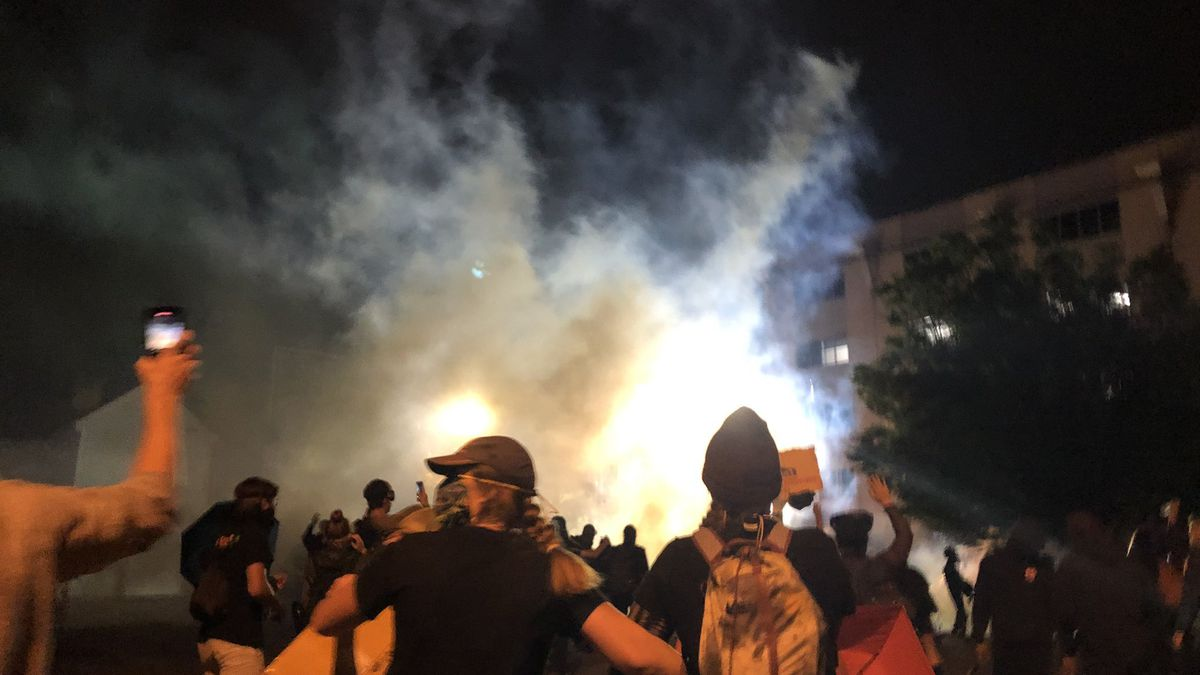 Tear gas was used on protesters in Richmond for the second straight night.