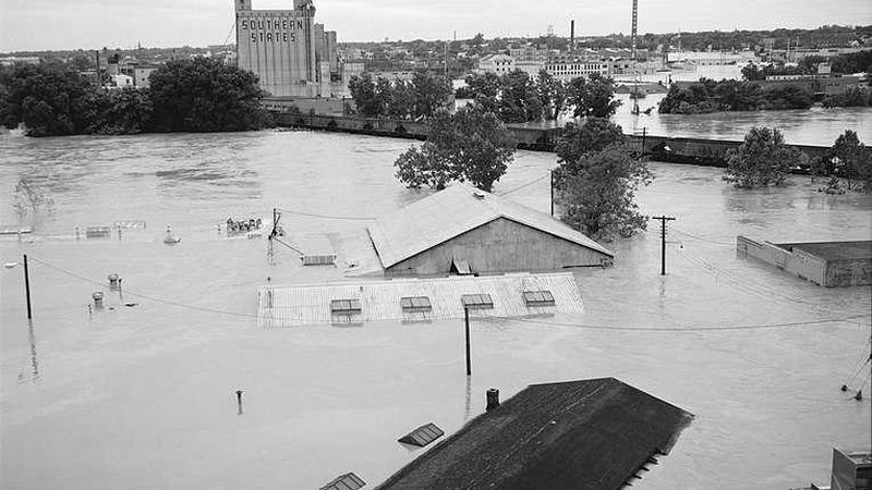 Flooding in Richmond caused by Hurricane Agnes.