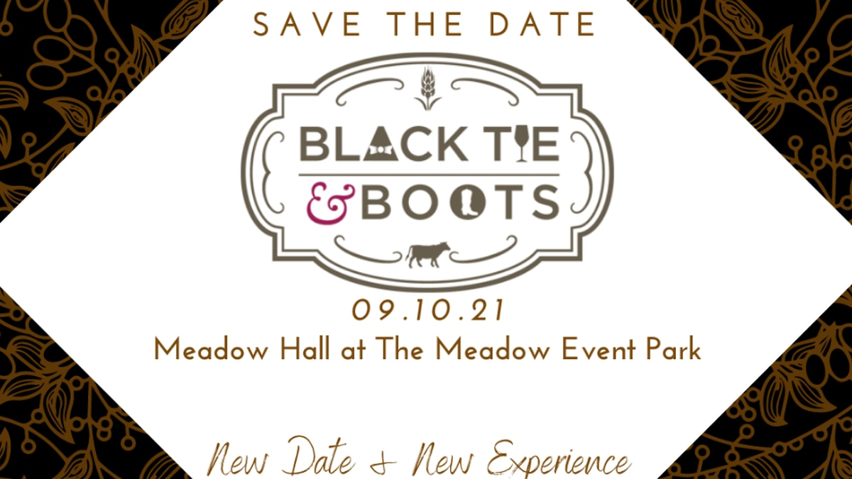 Black tie and boots gala