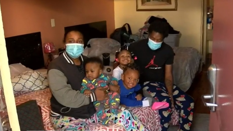 Strangers helped a young family with rent.