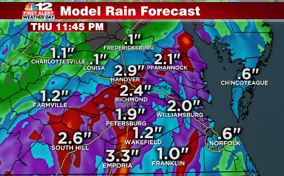Widespread 1-2 inches possible