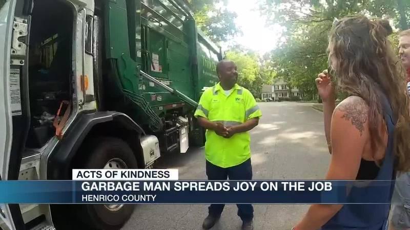 Garbage man spreads joy on the job