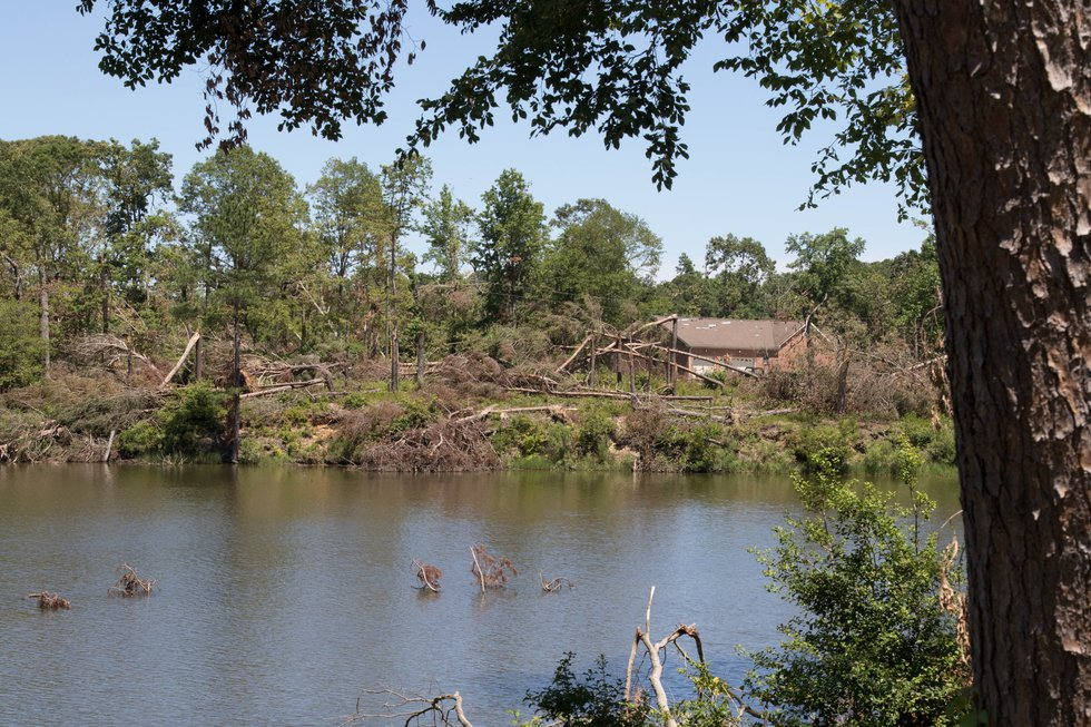 Widespread tree damage occurred along the coast of the Northern Neck by an EF-2 tornado on May 3.