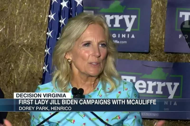 Jill Biden campaigns for Terry McAuliffe in Henrico