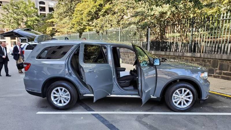 One of what will eventually be a fleet of 12 specially outfitted SUVs that will be used to...