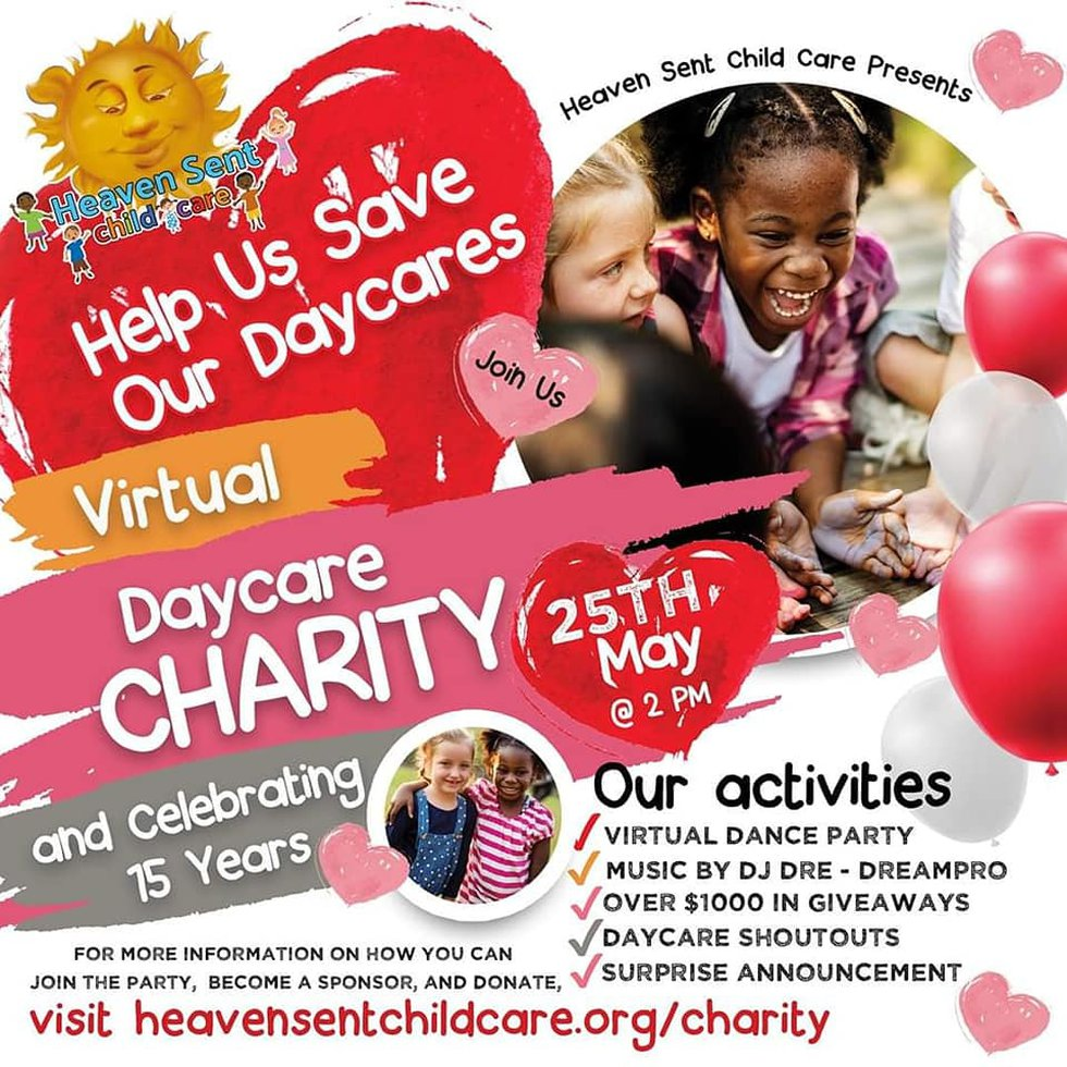 Heaven Sent Childcare is raising money for 15 other daycares
