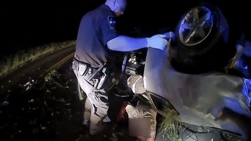Body cam footage of a person being rescued from underneath a car in Orange County was recently...