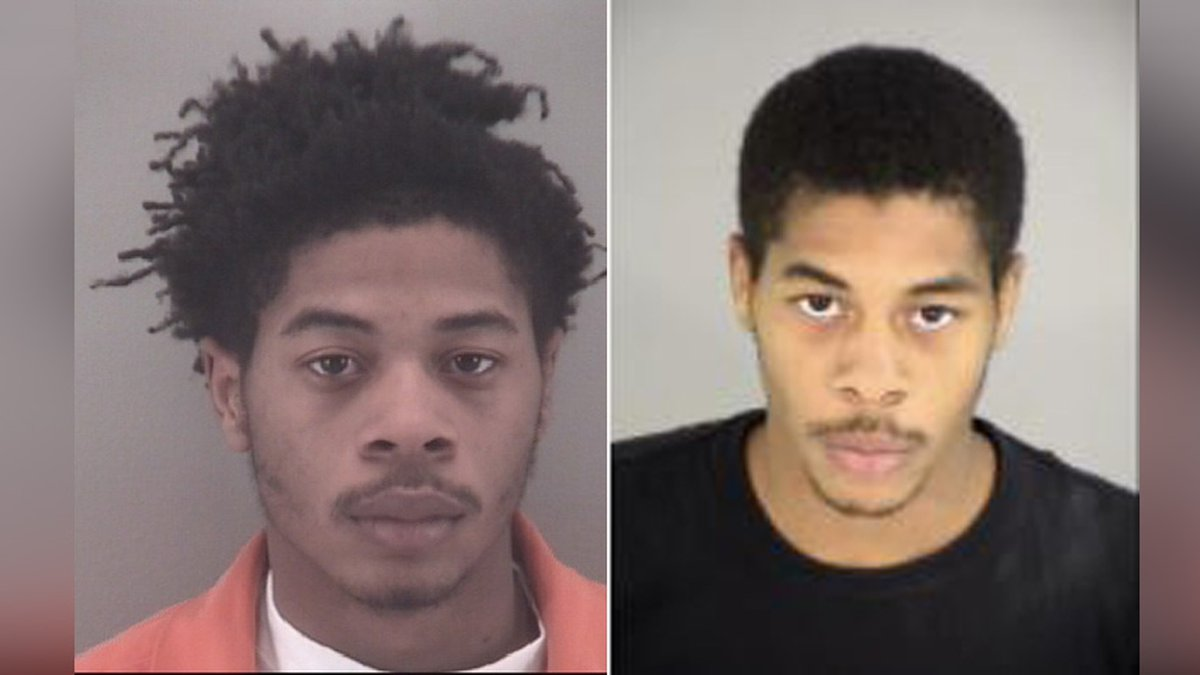 (Left to Right) Kavon Bynum was arrest. Police are searching for his twin brother, Kevon Bynum.