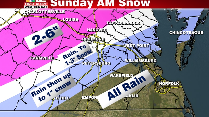 Rain switches over to a quick round of snow through the late morning