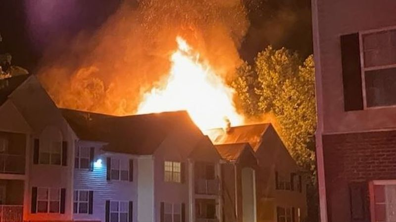 Fire at Brandy Mill Apartments in Mechanicsville.