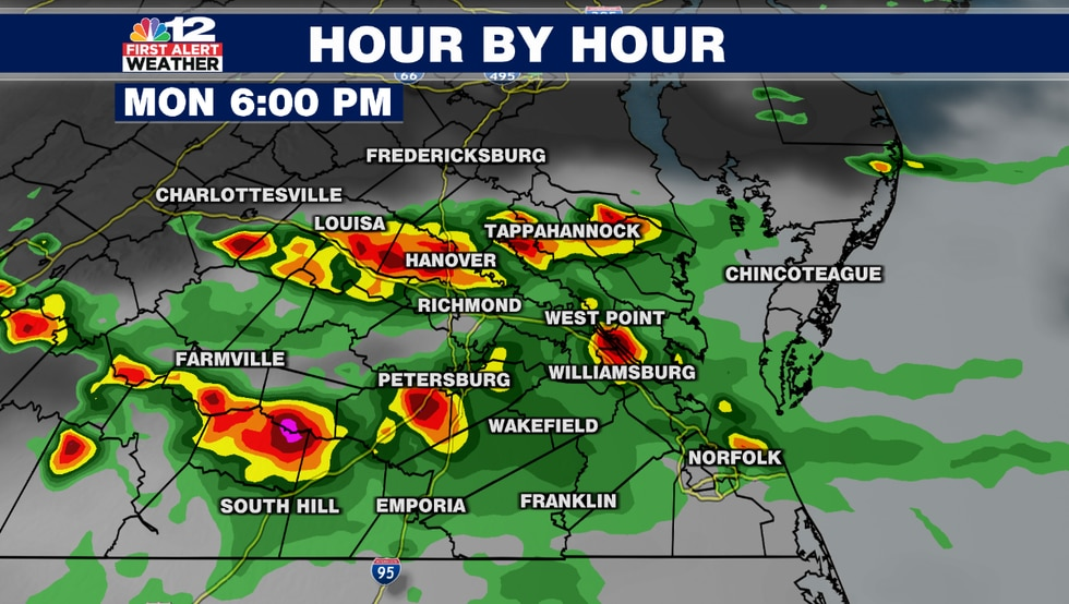 Clusters of strong to severe thunderstorms may materialize in the late afternoon and evening...
