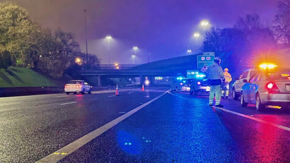 Virginia State Police confirm a pedestrian is dead after being hit by a car along Interstate 95...
