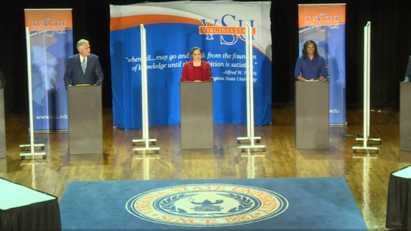 The first televised debate of Virginia's Democratic gubernatorial primary started out tame...