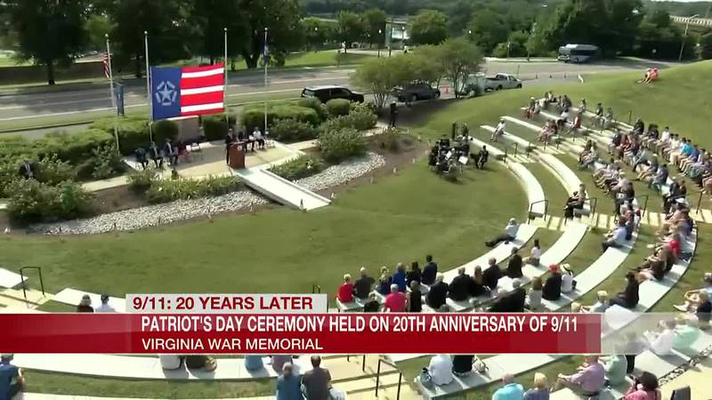 Dozens attend 'Patriot Day' ceremony at Virginia War Memorial to commemorate 9/11