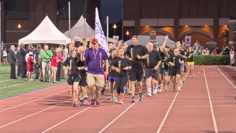 It's a staple of the Special Olympics Virginia Summer Games- the Law Enforcement Torch Run.