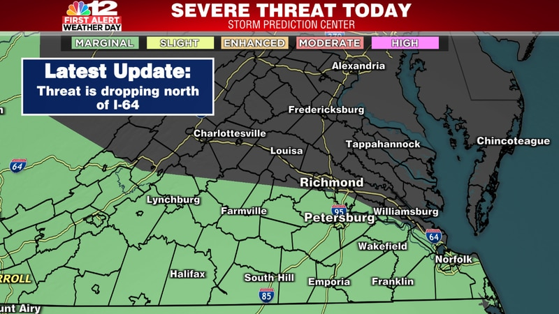 Low-end severe threat this evening/overnight