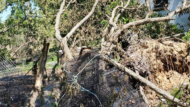 Bruce Carter's crab pots and oyster cages  were destroyed by the EF-2 tornado that struck the...