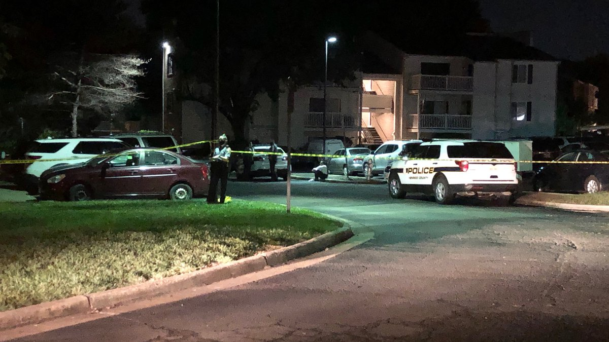Crime scene after shooting in Henrico