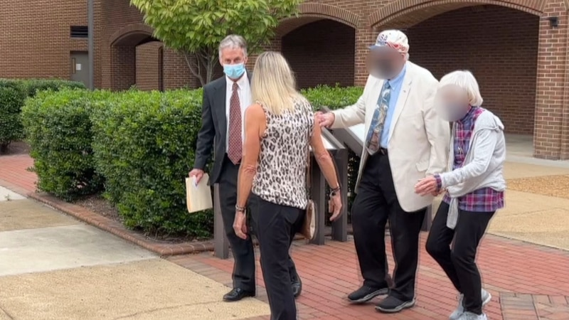 Dean Lakey, 60, walks out of the Henrico Co. Courthouse on Oct. 6 after a status hearing.