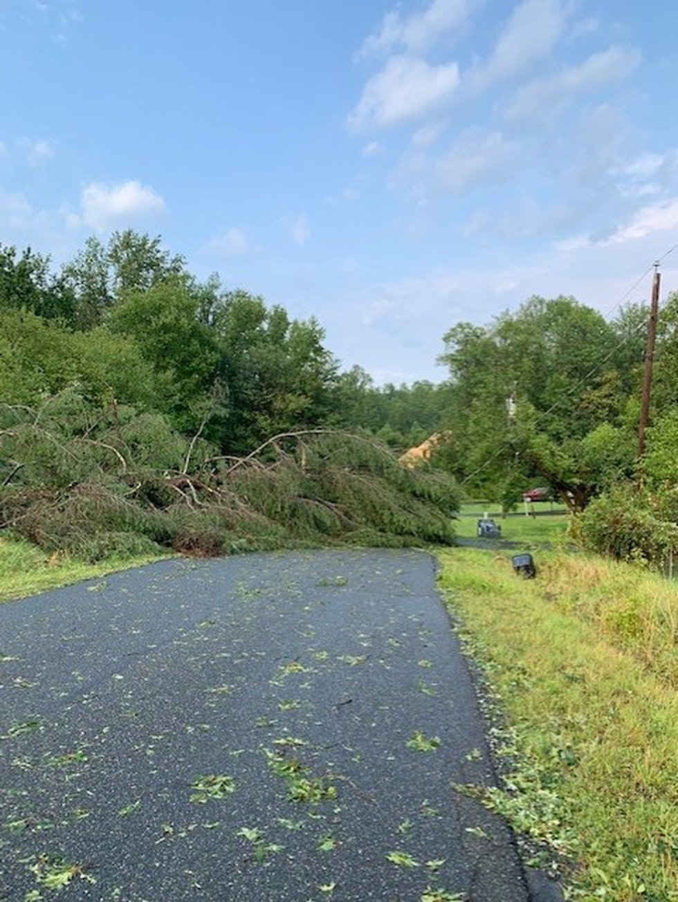 Storms caused damage on Thursday.