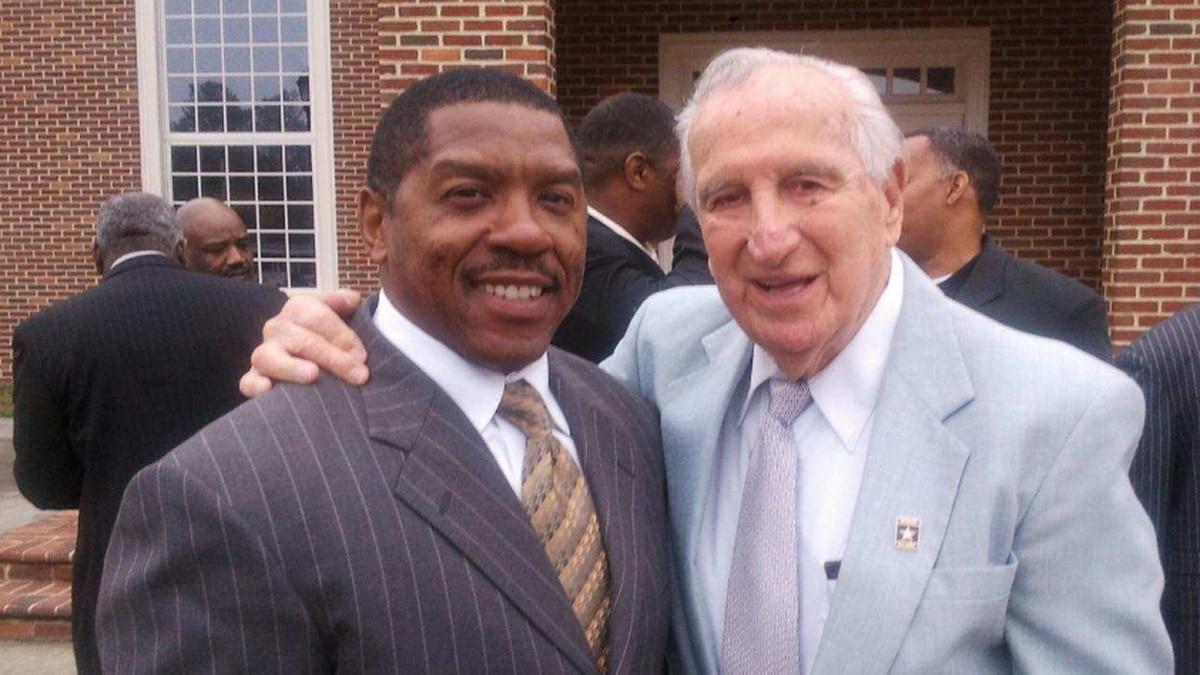 Coach Al Rinaldi, right, died on April 20, 2016.