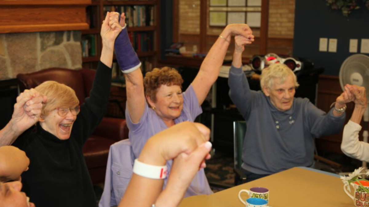Residents of an Ontario nursing home participate in the Java Music Club