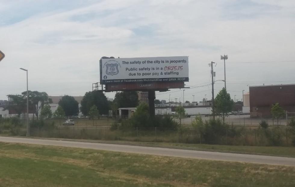 The billboards were put up in Richmond.