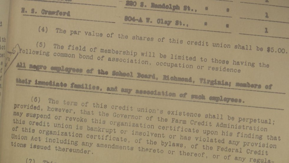 First Charter (Source: Richmond Heritage Federal Credit Union)