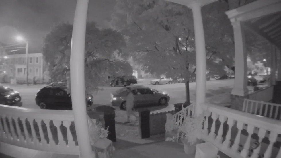 Suspect caught in video