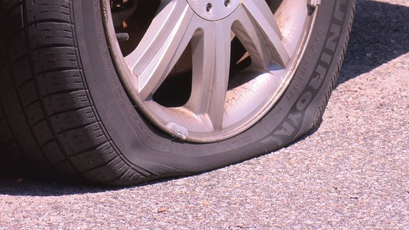 Tires were slashed overnight in a Richmond neighborhood.