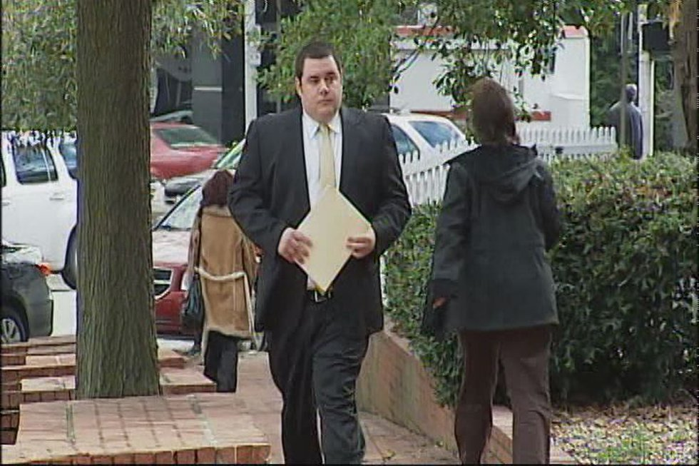 Elias Webb outside the Richmond courthouse in 2013 (Source: NBC12)