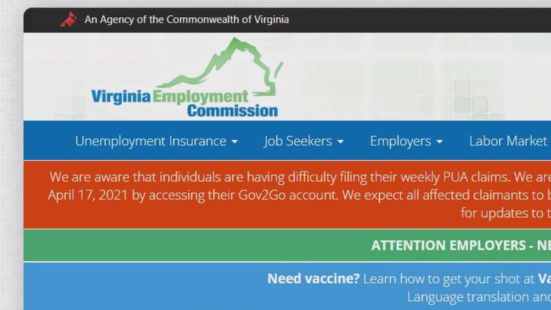 VEC working to fix glitch with federal Pandemic Unemployment Assistance benefits