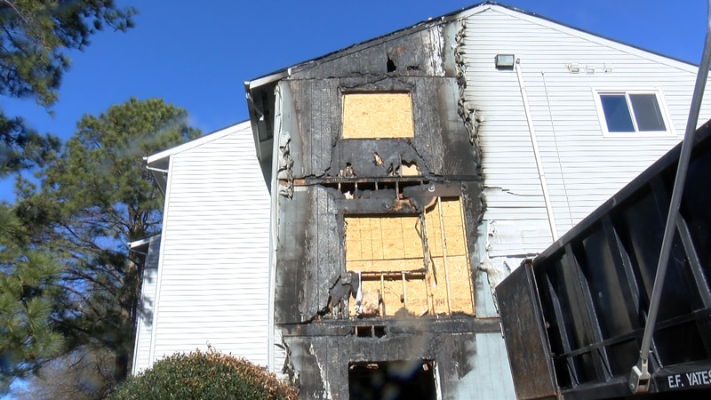Fire happened in early December in North Chesterfield apartment complex.