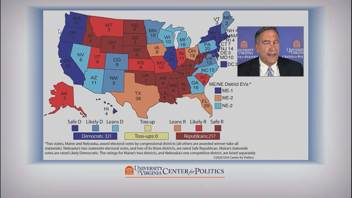 UVA Center for Politics' Crystal Ball webinar series released its final election forecast ahead...